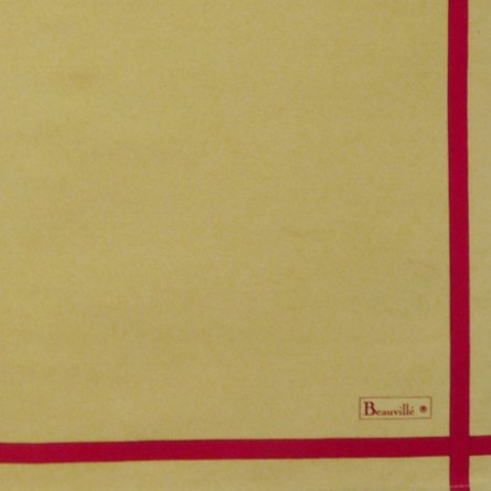 Serviette Bicolore - Or/Rouge
