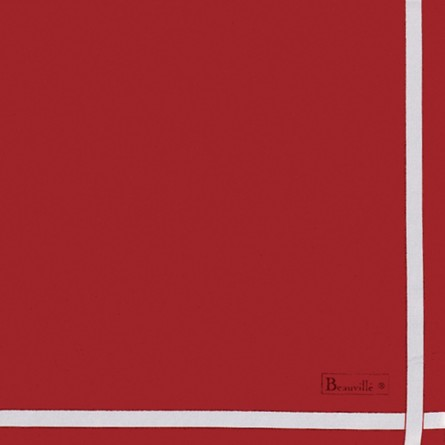 Serviette Bicolore - Rouge/Blanc