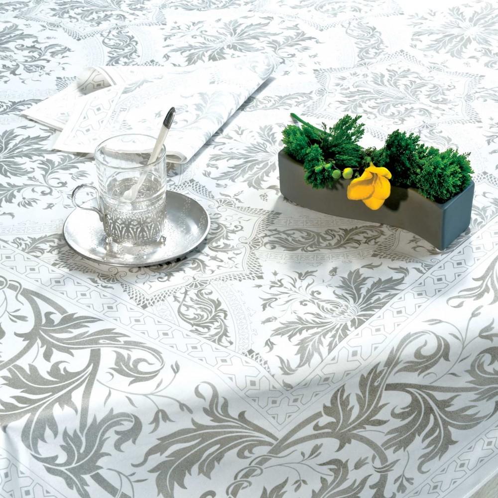 Nappe de table coton framboise lin nappe topkapi carr e 170x170 cm beauvill for Linge de table design
