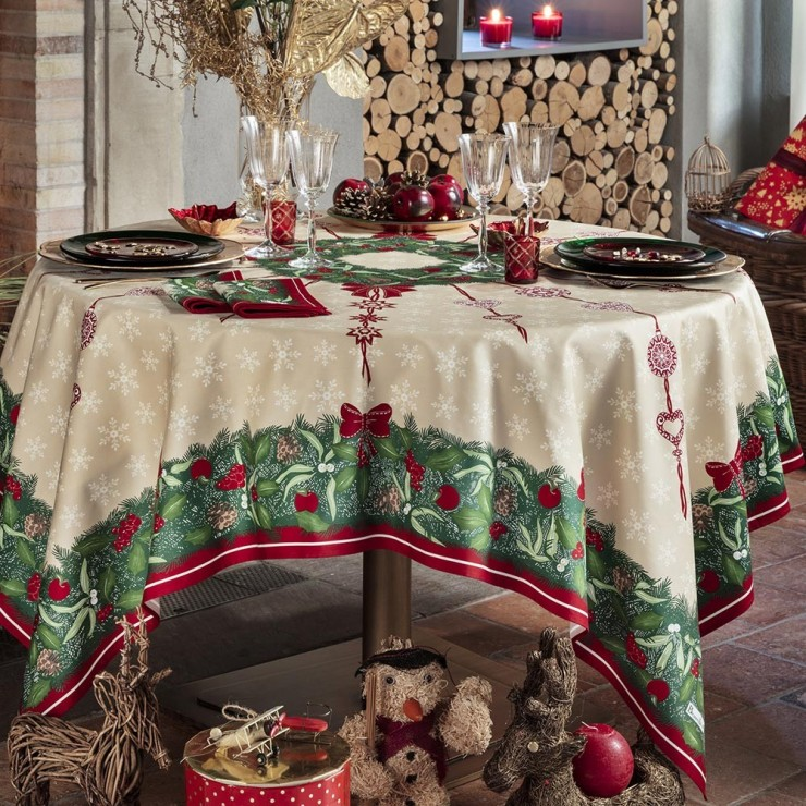 Nappe De Table Coton De No 235 L Rouge Vert Nappe Jour De