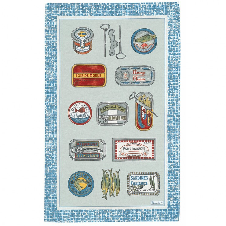 Sardines Tea-Towel