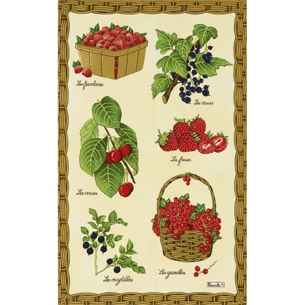 Fruits Rouges Tea-Towel