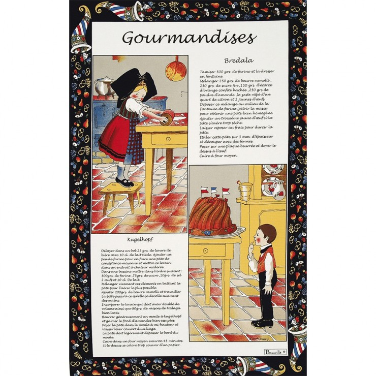 Gourmandises Tea-towel