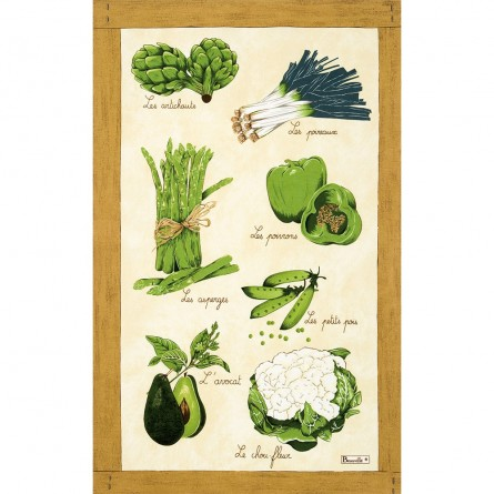 Légumes Verts Tea-Towel