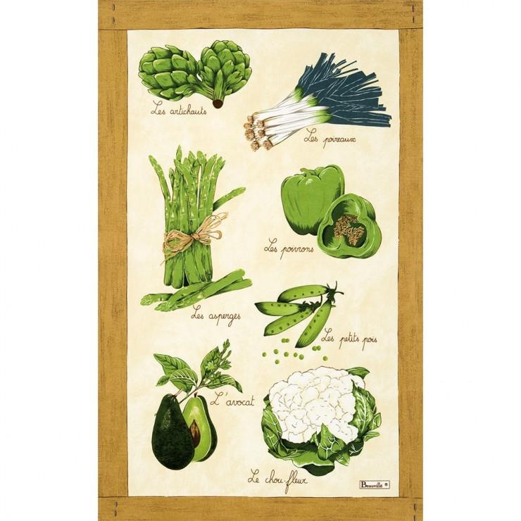 Torchon Légumes verts