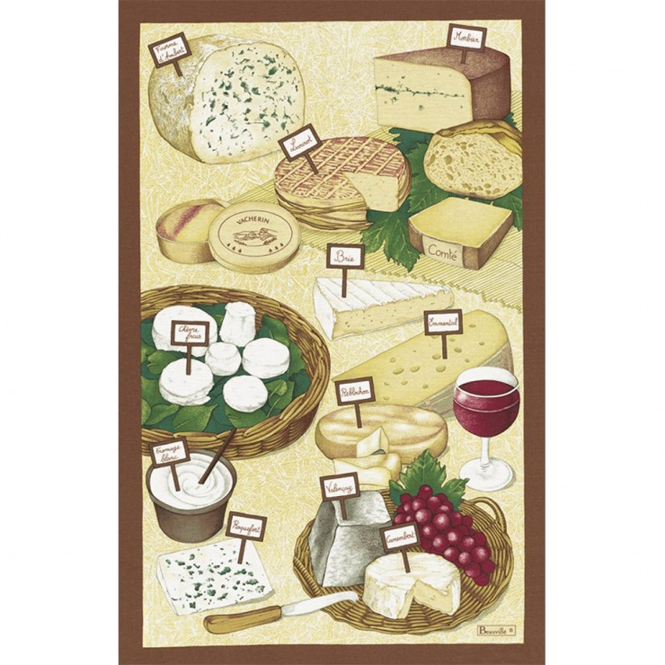 Fromages Tea-Towel