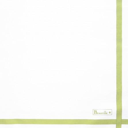 Serviette Bicolore - Blanc/Vert