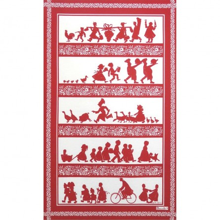 Silhouettes Tea-Towel