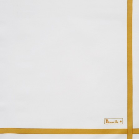 Two-coloured Napkin - White/Yellow