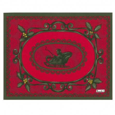 Winter placemat Red
