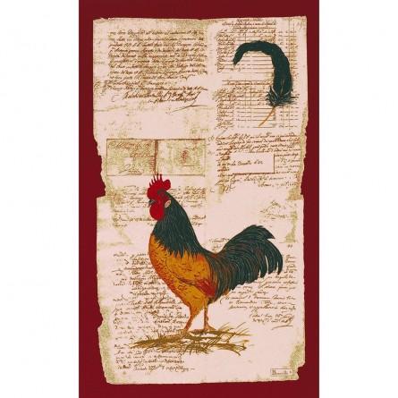 Torchon Coq littéraire