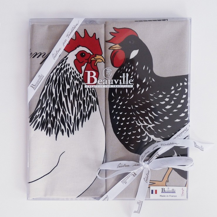 Tea-towel gift box Basse cour