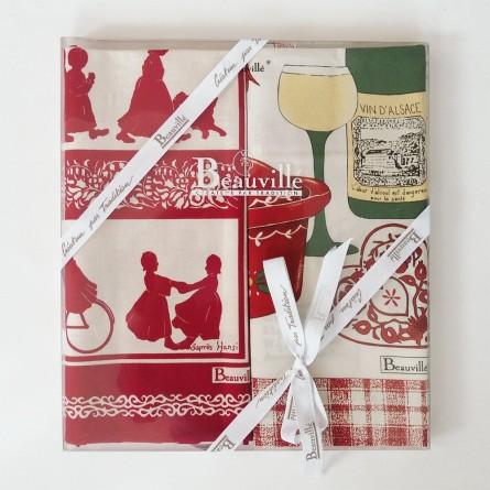 Coffret cadeau torchons Plaisir d'Alsace