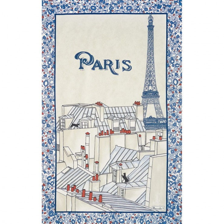 Les toits de Paris Tea-Towel