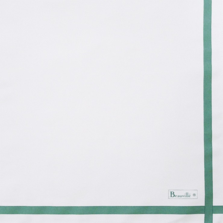 Serviette Bicolore - Blanc/Vert d'eau