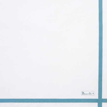 Two-coloured Napkin - White/Sky Blue