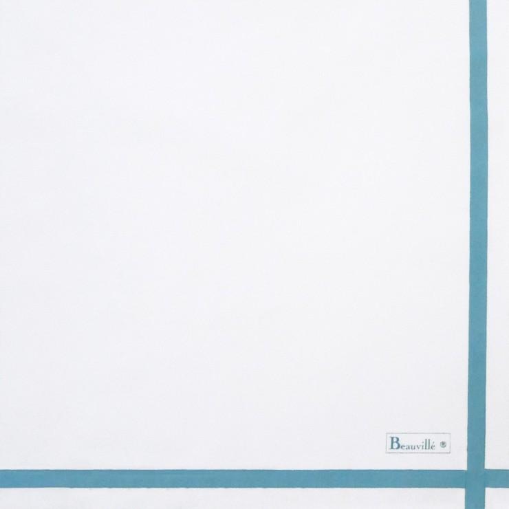 Serviette Bicolore - Blanc/Azur