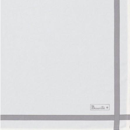 Two-coloured Napkin - White/Emerald