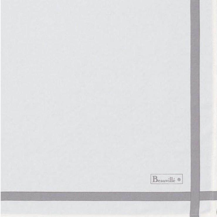 Serviette Bicolore - Blanc/Taupe