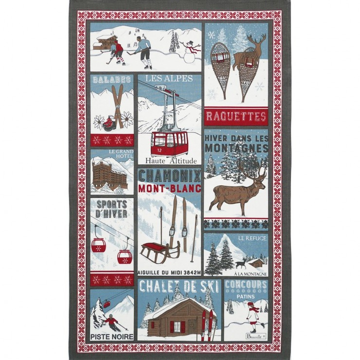 A la montagne Tea-Towel