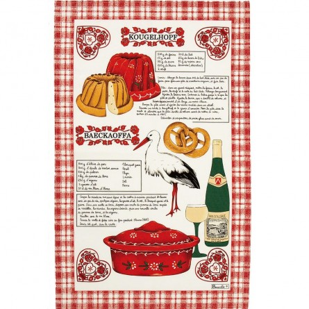 Alsace Gourmande Tea-towel