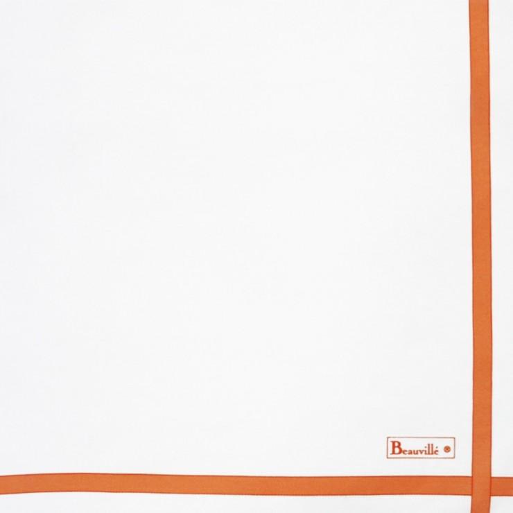 Serviette Bicolore - Blanc/Jaune