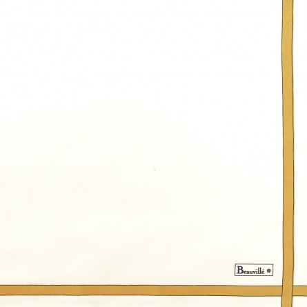 Serviette Bicolore - Blanc/Miel