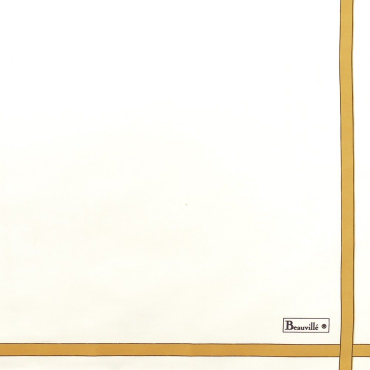 Two-coloured Napkin - White/Honey