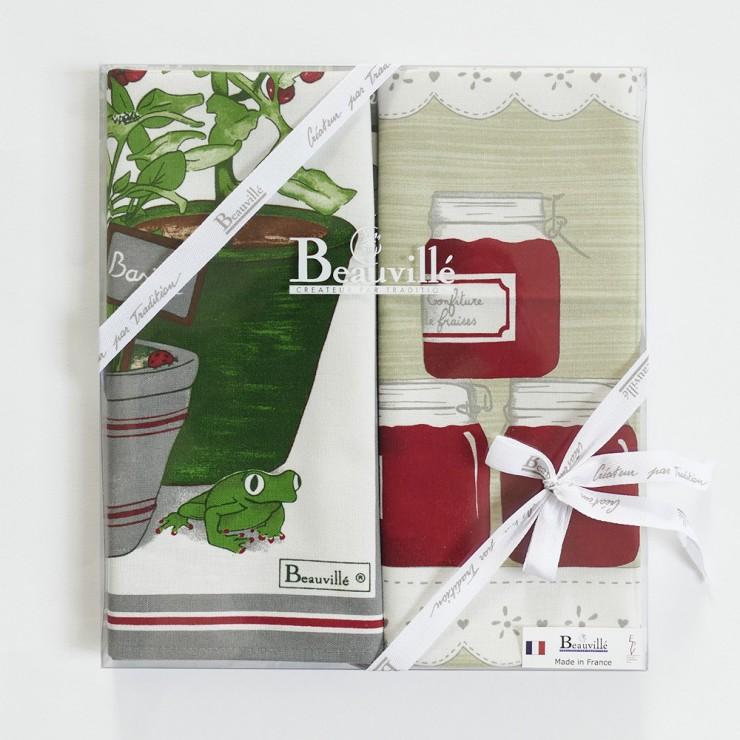 Tea-towel gift box Mon Jardin