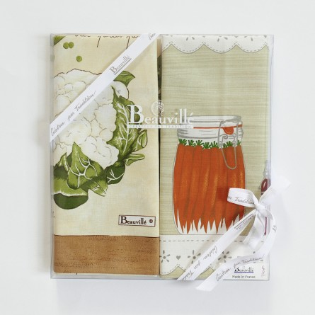 Tea-towel gift box Légumes de Saison