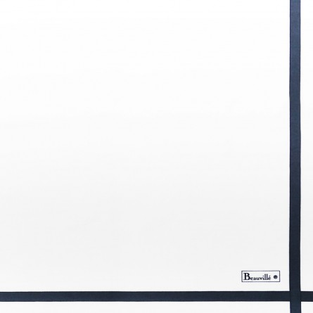 Serviette Bicolore - Blanc/Bleu
