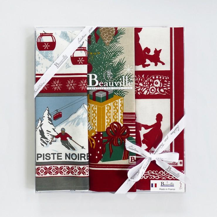 Tea-towel gift box Traditions de Noël