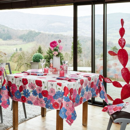 Fleurs des champs coated Tablecloth
