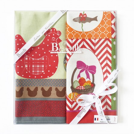 Tea-towel gift box Printemps