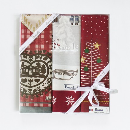 Tea-towel gift box Traditions de Noël