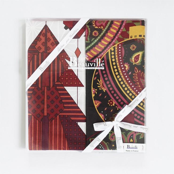 Tea-towel gift box Féerie de Noël