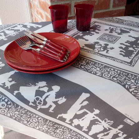 Silhouettes Hansi Grey Tablecloth Grey