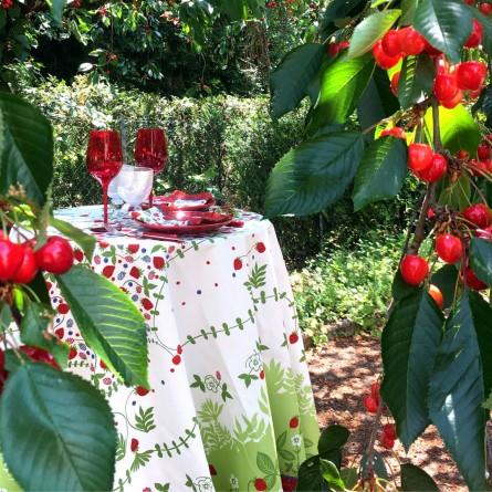 Nappe Fruits d'été enduite