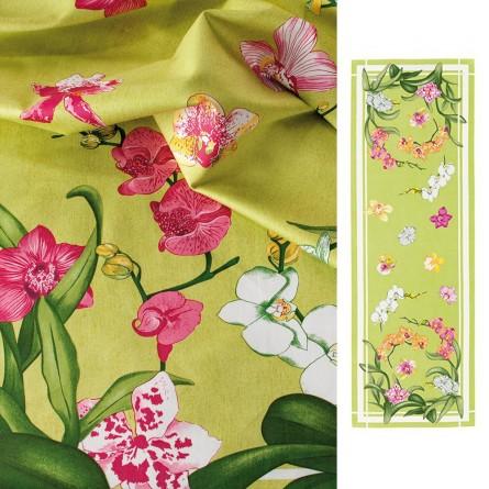 Tête à tête Orchidées Vert