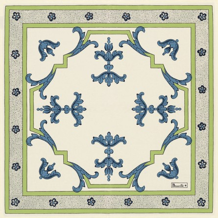 Trianon Serviette Blau