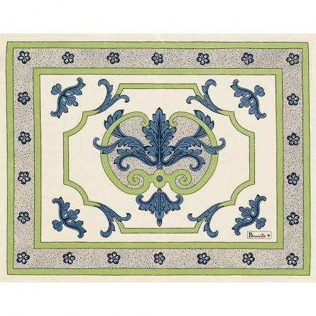 Trianon Tischset Blau