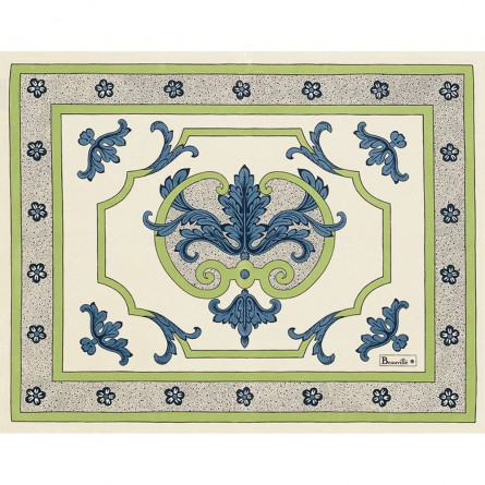 Trianon Placemat Blue