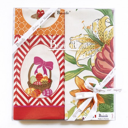 Tea-towel gift box Fruits et Fleurs