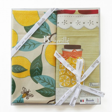 Tea-towel gift box Plein Sud