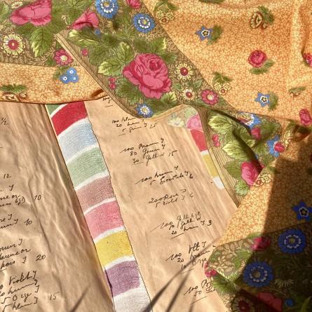 Foulard Roses Anciennes - Mandarine