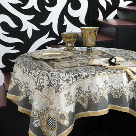 Adagio Tablecloth Grey