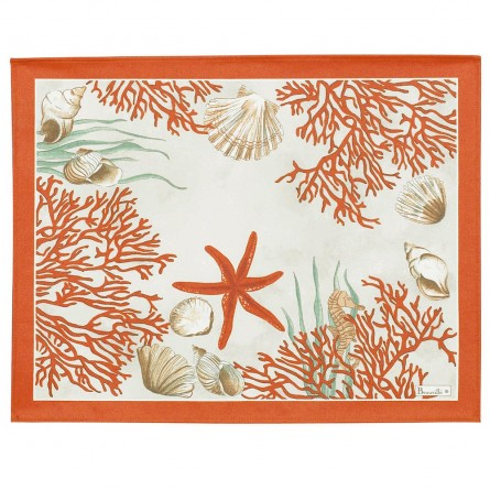 Corail Coated Placemat Red