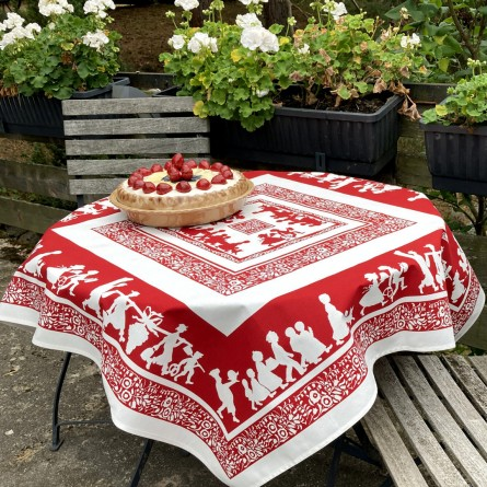 Silhouettes Hansi Tablecloth Red
