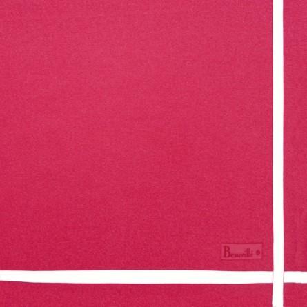 Zweifarbige Serviette - Pfingstrose/Weiß