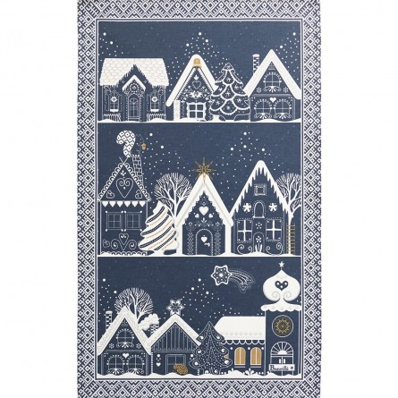 Nuit Féerique Blue Tea-Towel